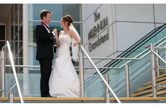Natalie & Joe's wedding at Rowley Mile Racecourse on 27th July 2014
