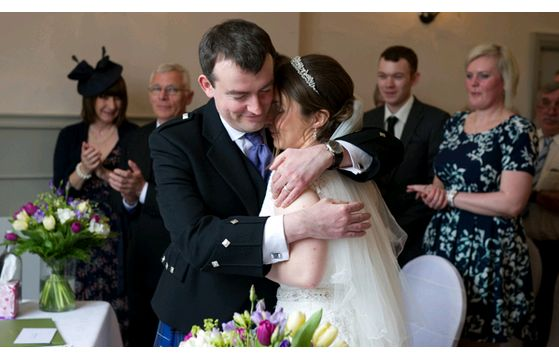 Stewart & Rebecca's wedding at Slepe Hall on 6th April 2014