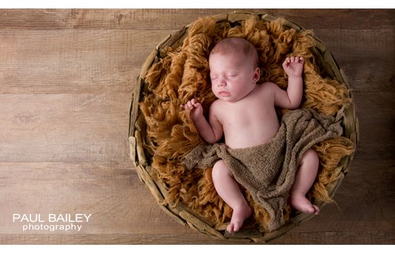 Baby Olivia's first photo shoot