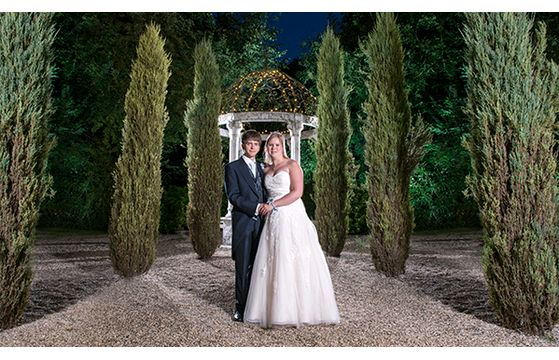 Chilford Hall Garden Rooms wedding
