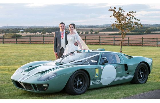 Racing cars and fun for this lovely couple